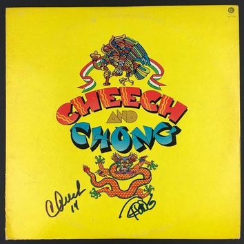 ESBONY Cheech Marin & Tommy Chong Signed Autographed 'Up In Smoke' Record Album (PSA/DNA COA)