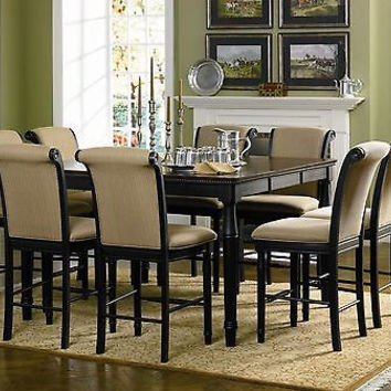 Cabrillo Counter Height 5 Piece Black Dining Room Table Set