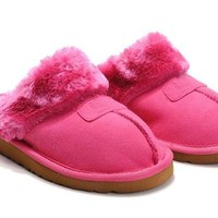 UGG Coquette Slippers 5125 Pinkred Outlet UK