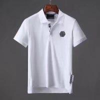 Philipp Plein 2018ss Spring and Summer men's new short sleeve polo,pp classic skull head drill p80