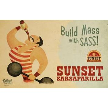 Fallout New Vegas Sunset Sarsaparilla Poster Standup 4inx6in