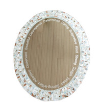 Mosaic Mirror with Etching / Engraving -- Add your Favorite Quote or Words to any Mirror