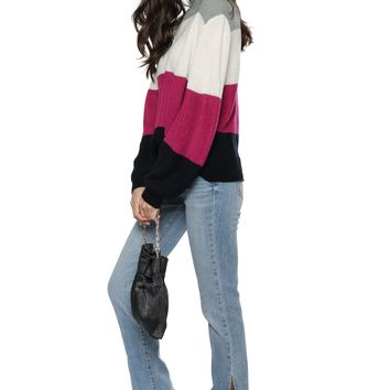 Fox + Hawk Multi Color Block Sweater