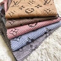 LV Louis Vuitton Popular Men Women Multicolor Embroider Easy To Match Scarf Scarves Accessories I-YH-FTMPF
