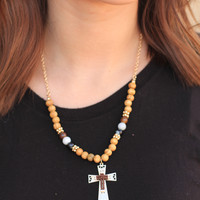 Beaded Faith Necklace
