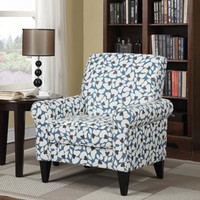 Walmart: Dana Floral Rolled Arm Accent Chair, Multiple Colors