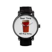 Beer Time All the time Wrist Watches
