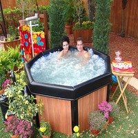 Spa-N-A-Box Portable Hot Tub at Brookstone. Buy Now!