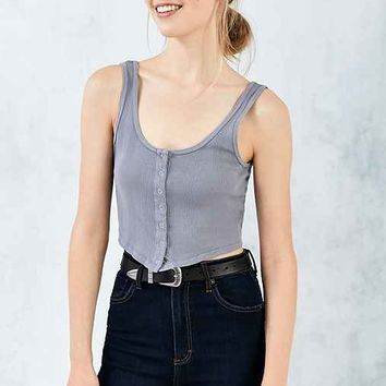 Truly Madly Deeply Buttoned Up Cropped Top
