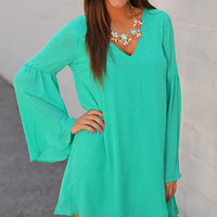 Criss Cross My Heart Dress, Green