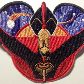 Disney Villain Jafar Inspired Embroidered Mouse Ear Patch - Aladdin
