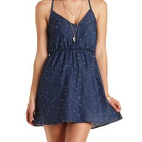 Destroyed Denim Babydoll Dress by Charlotte Russe