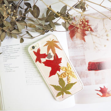 Christmas Edition - The pure winter pressed flower bumper phone case (押し花電話ケース)