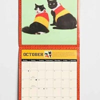 Cats In Sweaters 2015 Wall Calendar- Turquoise One