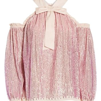 Needle & Thread Kaleidoscope Cold Shoulder Top | Nordstrom