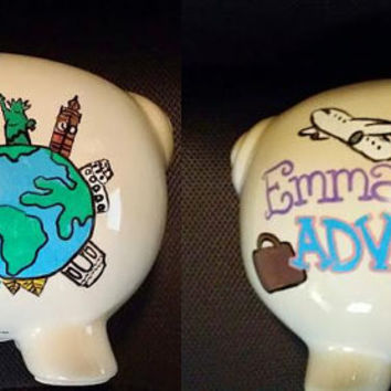 Personalized Piggy Bank, Completely Custom Piggy Bank, Match Any Theme, Any Design
