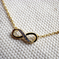 Infinity Necklace in Gold tiny eternity friendship promise charm Necklace by Sweet Sparkles Heaven