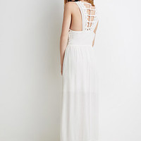 Crinkled Ladder-Back Maxi Dress