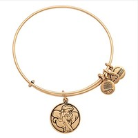 Disney World Alex and Ani Ariel Little Mermaid Gold Charm Bangle Bracelet