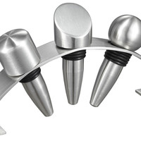 Stainless Steel Wine Stoppers with Arched Stand