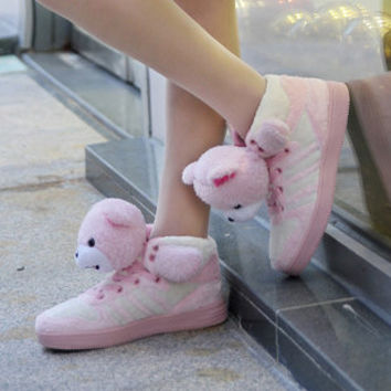 Pink Teddy Bear Sneakers