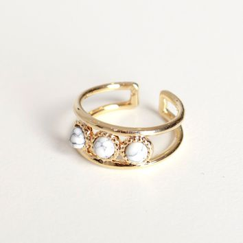 Marble Trio Ring
