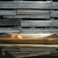 Large black walnut bowl - Wood trencher bowl - Long table runner - Hand carved wood bowl - Wooden bowl - Dough bowl - Wood trencher - Art