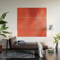 Coral gradient Wood Wall Art by duckyb