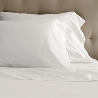 Organic Cotton Frayed-Edge Sheet Set - White