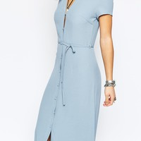 Glamorous Petite Button Through Maxi Tea Dress at asos.com