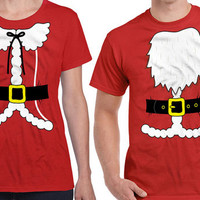Matching Christmas Shirts Matching Shirts For Couples Matching Christmas Outfits Santa Costume Mrs Claus Costume Christmas Gifts DN-320-321