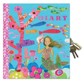 Mermaid Locked Diary