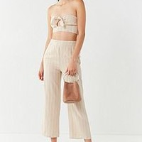 UO Just In Time Tie-Front Tube Top | Urban Outfitters