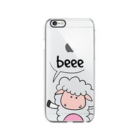 Sheep Cute Animal Clear Transparent Plastic Phone Case Phone Cover for Iphone 5/5S/5C_ SCORPIOshop (VA298, iphone 5)