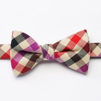 Bow Tie Tuesday Gingham Plaid Pretied Bow Tie - Men, Size: One Size (Pink)