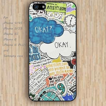 iPhone 5s 6 case collage Dream catcher colorful Cartoon okay star phone case iphone case,ipod case,samsung galaxy case available plastic rubber case waterproof B446