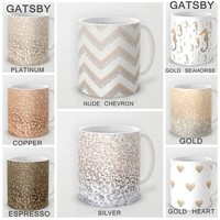 Celebrate your coffee with GATSBY GLITTER MUGS  by Monika Strigel