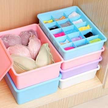 2017 Limited Hot Multi-function Drawer Storage Box Five Grid Underwear Socks Stacking Have Lidbra Travel Pouch Undertale Sale