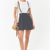 Polka Dot Suspender Skirt