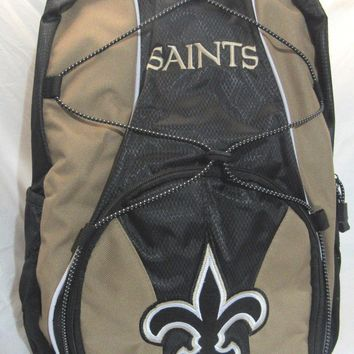 NFL NWT 2 COMPARTMENTS ADULT BACKPACK BY CONCEPT ONE- NEW ORLEANS SAINTS