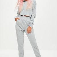 Missguided - Barbie x Missguided Grey Plain Joggers