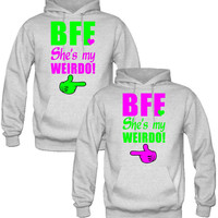 BEST FRIEND FOREVER COUPLE HOODIES