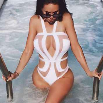 Nevada Mesh cut out swimsuit in 2 colors