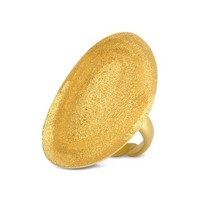 Stefano Patriarchi Designer Rings Golden Silver Etched Oval Ring