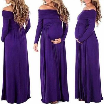 Summer Maxi Long Maternity Dress