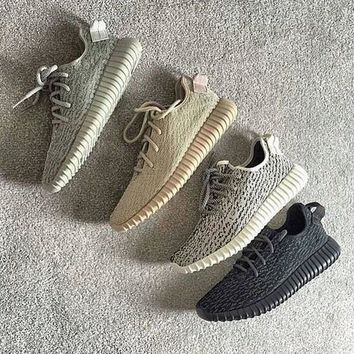 Fashion Adidas Women Yeezy Boost Sneakers Running Sports Shoes Foot Khaki-2
