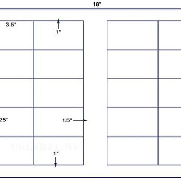 US6029D- 20 up 2'' x 3.5'' label on a 12'' x 18'' label sheet.
