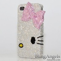 3D Swarovski Luxury Crystal Bling Case Cover for iphone 4 / 4s 100% Handcrafted by BlingAngels