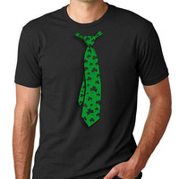 St Patrick's Day Shirt Irish Mens T shirt Shamrock Irish Gift Tshirt Cool Shirts Party Irish T shirt Ireland Green Lucky Tie Tee shirt