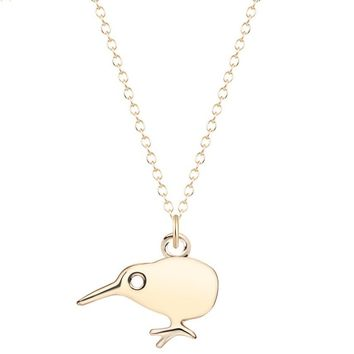 Kiwi Bird Cute Small Pendant Necklace for Women